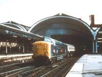 A Deltic charter leaving York for Durham in 1981.<br><br>[Ian Dinmore&nbsp;//1981]