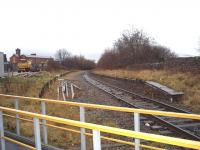 Daisyfield station closed in 1958, four years before the other Blackburn to Hellifield stations, and did not reopen when services to Clitheroe were restored.  Here, in this view from the level crossing towards the junction with the East Lancashire line, the old down platform is still in situ and the remnants of the up can also be seen. The double track section to Hellifield starts immediately beyond the level crossing.<br><br>[Mark Bartlett&nbsp;13/12/2008]