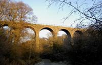 The viaduct over the River Almond in Almondell Country Park, near East Calder, in December 2008.� The viaduct carried the mineral line that ran from Drumshoreland to Broxburn and Camps.<br> <br><br>[Bill Roberton&nbsp;27/12/2008]