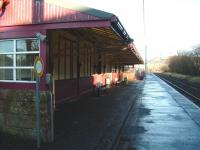 View along the platform at West Kilbride on 10 December 2008 towards Largs. The attractive former station building here is now a restaurant.<br><br>[David Panton&nbsp;10/12/2008]