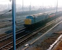 40052 at Carlisle Kingmoor with a freight in 1982.<br><br>[Colin Alexander&nbsp;//1982]