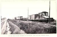 Electric freight train around Toledo and near to Sylvania, Ohio alongside the highway to Michigan. Photo by Stephen Graham c. 1912. Thanks to Dale Berry of www.michiganrailroads.com for additional info.<br> <br>  <br> <br> <br><br>[Alistair MacKenzie&nbsp;//1912]