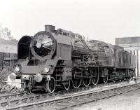 Regarded by many as one of the world's greatest steam locomotive engineers, Andre Chapelon retired as Engineer-in-Chief of the SNCF in 1953. Part of his legacy, one of the legendary SNCF 231K Pacifics, is seen here at Steamtown, Carnforth in the 1970s. Chapelon died in 1978.<br> <br><br>[Colin Miller&nbsp;//]
