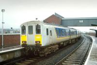 A class 450 DMU no 456 calls at Belfast Yorkgate in 1993, one year after the opening of the new NIR station.<br><br>[Bill Roberton&nbsp;//1993]