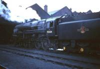 BR Standard class 9F no 92024 stands outside 12A Kingmoor shed.<br><br>[Robin Barbour Collection (Courtesy Bruce McCartney)&nbsp;//]