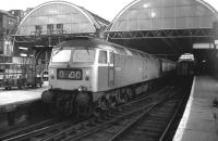 Look - no wires! 47547 about to take a train out of Kings Cross on 20 March 1976, before even the suburban electrification.<br><br>[John McIntyre&nbsp;20/03/1976]