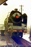 Chapelon Pacific 231 K 22 at Steamtown, Carnforth, circa 1975.<br><br>[Colin Miller&nbsp;//1975]