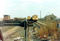 Withdrawn class 306 emus await their fate in the sidings at March on 29 July 1981. Based on an original LNER design the units first saw service in 1949 on the newly electrified Liverpool Street - Shenfield line. <br><br>[Colin Alexander&nbsp;29/07/1981]