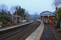 Looking east along the platform at Aberdour on a winter's afternoon in January 2009.<br><br>[David Panton 07/01/2009]