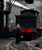 <I>God... I could murder a pint...</I> clocking off the early shift at Grosmont shed in April 2008, with ex-LNER J15 no 65462 standing under the coaling plant.<br> <br><br>[John Furnevel&nbsp;03/04/2008]