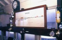 Inside the signal box at Sandown, Isle of Wight, in 1988. <br><br>[Ian Dinmore&nbsp;//1988]