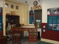 The booking office at Richmond has been restored with old railway artefacts but also has very interesting display boards and an audio visual slide show of the Richmond branch and its stations when the line was operating prior to closure in 1969.<br><br>[Mark Bartlett&nbsp;29/12/2008]
