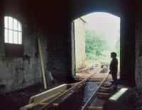 Contemplating the task that lies ahead. Scene inside the partially restored Cavan & Leitrim Railway shed at Dromod in 1993. A section of the 3ft gauge line was reopened the following year.<br><br>[Bill Roberton&nbsp;//1993]