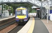 A Waverley bound train at North Queensferry in September 2008. <br><br>[John Furnevel&nbsp;08/09/2008]