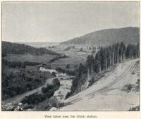 Construction of the Great Siberian Railway between Vladivostock and St Petersburg and eventually Murmansk. The view near Ufalei Station. [Extract from GSR Guide of 1900]<br><br>[Alistair MacKenzie&nbsp;//2009]