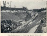 Construction of the Great Siberian Railway between Vladivostock and St Petersburg and eventually Murmansk. The pass over the Niurtse ridge. Photo by Matskevitch [Extract from GSR Guide of 1900]<br><br>[Alistair MacKenzie&nbsp;//2009]