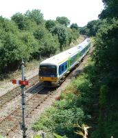 Approaching Evesham station from the south.<br><br>[Ewan Crawford&nbsp;14/07/2003]
