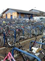 Now what's the term, Bicycle Park? One or two bikes outside Oxford station.<br><br>[Ewan Crawford&nbsp;22/02/2002]