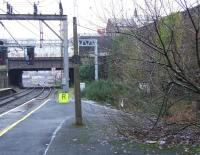 Looking north at Platform 7 of Preston station in January 2009. This shows where the  lines entered the station to the right before running through the tunnel to the East Lancs platforms, prior to their closure in 1972.<br><br>[Graham Morgan&nbsp;07/01/2009]