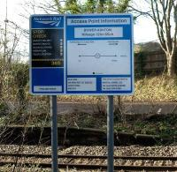 A new Network Rail warning sign on the Portbury branch, seen at the site of the defunct Clifton Bridge Station on 16 January. [The distance is from Paddington.]<br><br>[Peter Todd&nbsp;16/01/2009]