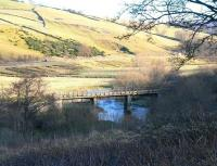 Old railway bridge on the Waverley Route south of Heriot, photographed looking east on 17 January 2009.<br><br>[John Furnevel&nbsp;17/01/2009]