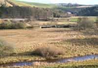 River, railway and road south of Heriot. Winter view looking east over the Waverley Route on 17 January 2009.<br><br>[John Furnevel&nbsp;/01/2009]