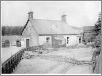 The station house at Carronbridge seen in 1940 during Tom Steele's spell here as Station Master. [Editor's note: His son Ian, who was kind enough to provide the old photographs, was born here during that year.]<br><br>[Ian Steele Collection&nbsp;//1940]