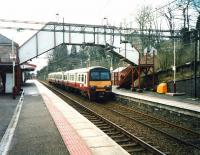 320 316 on a Milngavie service calls at Bearsden in March 1999.<br><br>[David Panton&nbsp;01/03/1999]