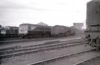 General view over the west end of Corkerhill shed - photographed towards the end of 1966.<br><br>[Colin Miller&nbsp;//1966]