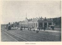 Zlatoust Station on the Great Siberian Railway between Vladivostock and St Petersburg and on to Murmansk, it was continued on to Peking and was built between 1891 and 1916. [Extracts from GSR Guide of 1900].<br><br>[Alistair MacKenzie&nbsp;//2009]
