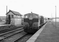 CIE 183 arriving with a train at Limerick in 1988.<br><br>[Bill Roberton&nbsp;//1988]