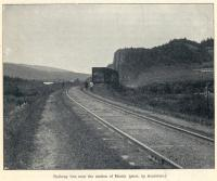 The line near Miniar Station. The Great Siberian Railway between Vladivostock and St Petersburg and on to Murmansk, it was continued on to Peking and was built between 1891 and 1916. Photo by Arsentiev. [Extracts from GSR Guide of 1900].<br><br>[Alistair MacKenzie&nbsp;//2009]