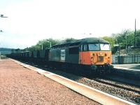 56 112 takes a Hunterston - Longannet coal train north through Rosyth in April 1999.<br><br>[David Panton&nbsp;/04/1999]