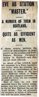 Newspaper cutting from 1922 concerning revolutionary changes on the LNER ...<br><br>[Bruce McCartney&nbsp;//1922]