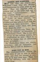Station Mistress - part 2. Newspaper cutting from 1928.<br><br>[Bruce McCartney&nbsp;//1928]