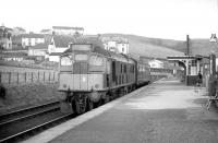 D5125 stands at Aberfeldy terminus with the 1610 train to Ballinluig in February 1964, the year before the line closed.<br><br>[Robin Barbour Collection (Courtesy Bruce McCartney)&nbsp;01/02/1964]