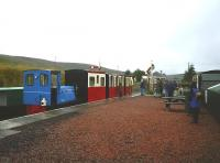 Scene at Leadhills on a wet June day in 2006. The former Wanlockhead and Leadhills Light Railway, closed in 1939, reopened as a 2ft gauge private railway in 1988.<br><br>[Colin Miller&nbsp;04/06/2006]