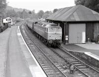 A class 47 brings a southbound service into Pitlochry in May 1987.<br><br>[Bill Roberton&nbsp;18/05/1987]