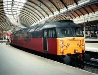 47 749 <I>Atlantic College</I> stands at Newcastle Central platform 12 in June 1997.<br><br>[David Panton&nbsp;/06/1997]