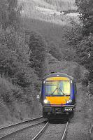 An Inverness to Edinburgh service approaches Dunkeld in August 2007.<br><br>[Ian Dinmore&nbsp;21/08/2008]