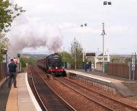 The second of the SRPS <I>Forth Bridge and Fife Circle</I> specials of 18 May 2008 approaching Lochgelly on the Inner Circle behind 61994 <I>The Great Marquess</I>.<br> <br><br>[Jan Niemczyk&nbsp;18/05/2008]