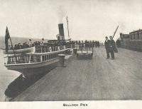 Balloch Pier was the north end of the Caledonian and Dumbartonshire Junction Railway. Old picture from Gardners Guide to Loch Lomond.<br><br>[Alistair MacKenzie&nbsp;//]
