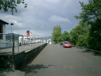 Balloch Pier in 2007, formerly the north end of the Caledonian and Dumbartonshire Junction Railway, looking along the remains of the former platform. Picture shows The Maid of the Loch steamship, currently being restored.<br><br>[Alistair MacKenzie&nbsp;31/01/2009]