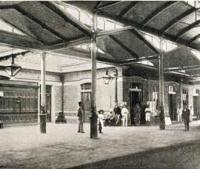 Interior of Maritzburg Station Natal Railway - ex Colony of Natal Railway Handbook and Guide by JF Ingram - 1895<br><br>[Alistair MacKenzie&nbsp;//1895]