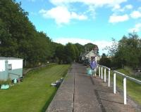 �<br> Platform scene at Norham on the Kelso to Tweedmouth line - taken�on 27th August�2004 looking east.<br> <br><br>[Colin Miller&nbsp;27/08/2004]