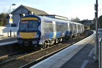 Saltire liveried 170 434 pauses at Inverkeithing on 6 February.<br> <br><br>[Bill Roberton&nbsp;06/02/2009]