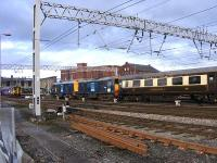 A brace of DRS Class 20s brings a railtour from Birmingham into Carlisle.<br><br>[John Robin&nbsp;07/02/2009]