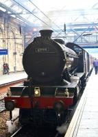 Gresley K4 2-6-0 no 61994 <I>The Great Marquess</I> stands at Waverley on 18 May 2008 prior to departure with an SRPS railtour around the Fife circle.<br> <br><br>[Norman Bews&nbsp;18/05/2008]