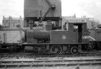 One of a pair of Z4 0-4-2T locomotives designed by Manning-Wardle for the GNSR and introduced in 1915. Both locomotives spent their lives at Kittybrewster shed, where 68191 was photographed in July 1958.<br><br>[Robin Barbour Collection (Courtesy Bruce McCartney)&nbsp;29/07/1958]