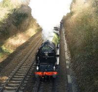 60163 <I>Tornado</I> photographed shortly after leaving Overton on 15 February 2009 with <I>The Cathedrals Express</I> special, which ran Victoria - Andover - Southampton and back via Winchester. <br><br>[Peter Todd&nbsp;15/02/2009]